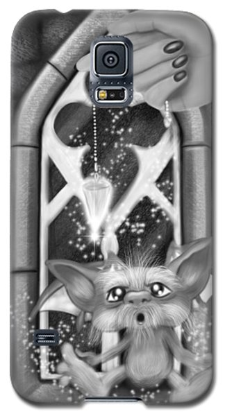Summoned Pet - Black And White Fantasy Art Galaxy S5 Case