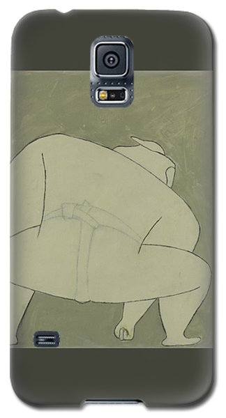 Galaxy S5 Case featuring the painting Sumo Wrestler by Ben Gertsberg