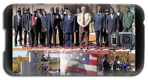 Galaxy S5 Case featuring the photograph Sumter County Memorial Of Honor by Jerry Battle