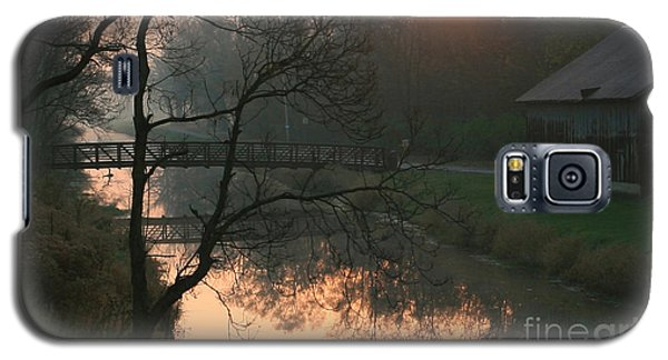 Galaxy S5 Case featuring the photograph Sun Above The Trees by Paula Guttilla