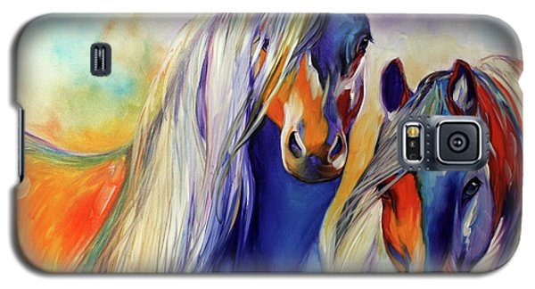 Sun And Shadow Equine Abstract Galaxy S5 Case