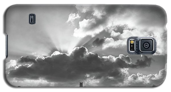 Galaxy S5 Case featuring the photograph Sun Beams Over Church by Nicholas Burningham