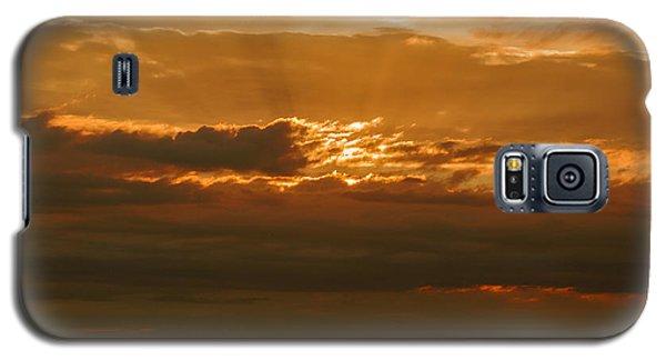 Sun Behind Dark Clouds In Vogelsberg Galaxy S5 Case