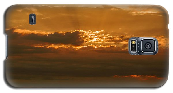 Sun Behind Dark Clouds In Vogelsberg Galaxy S5 Case