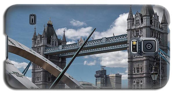 Sun Clock With Tower Bridge Galaxy S5 Case