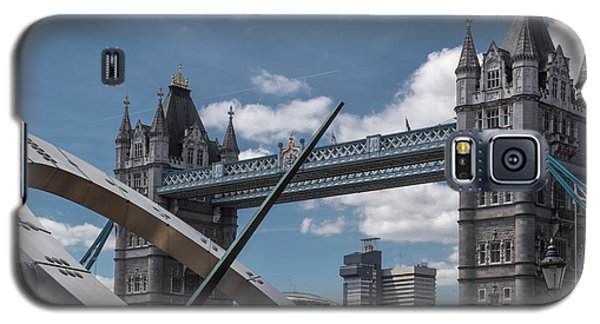Sun Clock With Tower Bridge Galaxy S5 Case