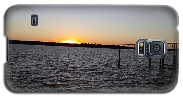Sun Going Down Near Gov Thomas Johnson Bridge Galaxy S5 Case