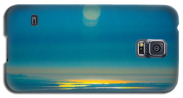Sun Going Down On The Sound Galaxy S5 Case