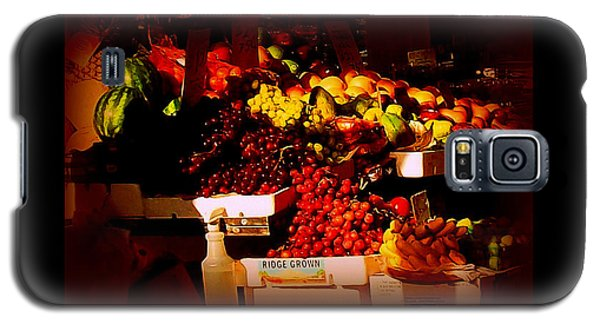 Galaxy S5 Case featuring the photograph Sun On Fruit - Markets And Street Vendors Of New York City by Miriam Danar