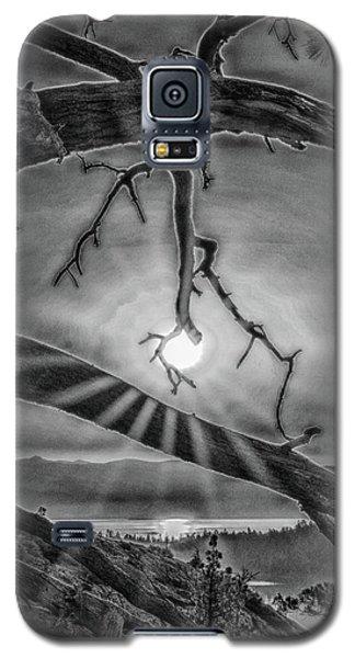 Sun Ornament - Black And White Galaxy S5 Case