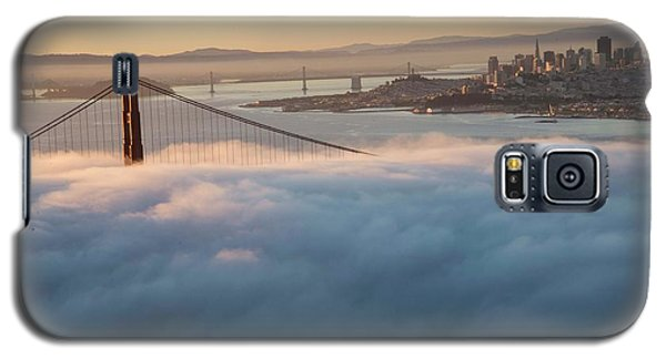 Galaxy S5 Case featuring the photograph Sun Rise At Golden Gate Bridge by David Bearden