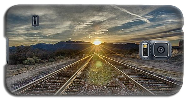 Sun Sets At The End Of The Line Galaxy S5 Case