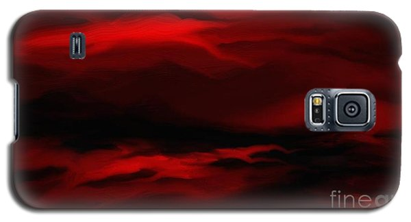 Galaxy S5 Case featuring the painting Sun Sets In Red by Rushan Ruzaick