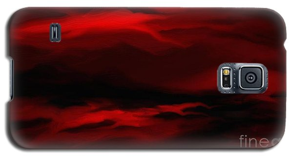 Sun Sets In Red Galaxy S5 Case