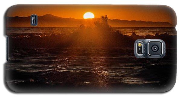 Galaxy S5 Case featuring the photograph Sun Setting Behind Santa Cruz Island by John A Rodriguez