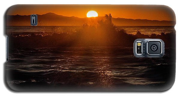 Sun Setting Behind Santa Cruz Island Galaxy S5 Case