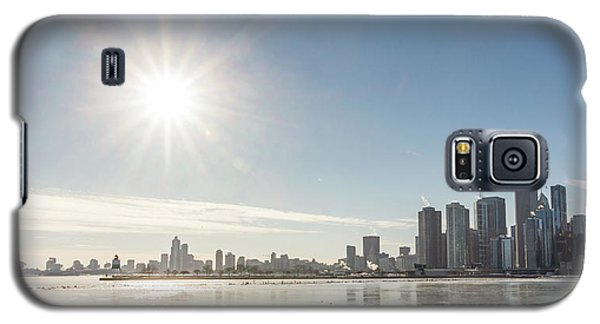 Sun Setting Over Chicago Galaxy S5 Case