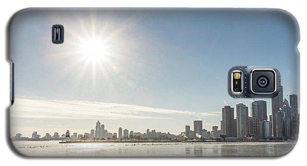 Sun Setting Over Chicago Galaxy S5 Case