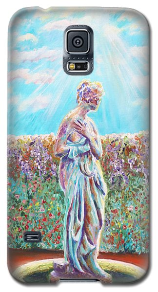 Galaxy S5 Case featuring the painting Sunbeam by Elizabeth Lock
