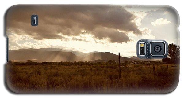 Galaxy S5 Case featuring the photograph Sun Beams Over The Mountain by Deborah Moen