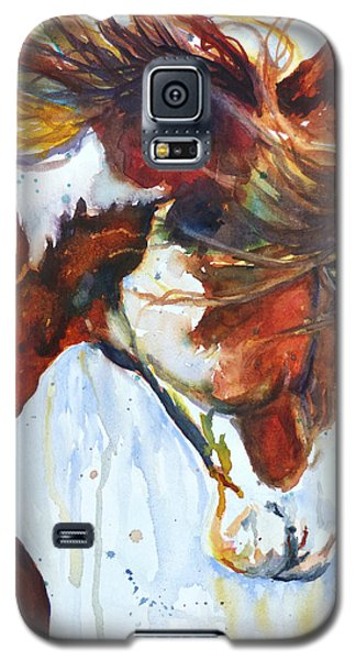 Galaxy S5 Case featuring the painting Sundance by P Maure Bausch