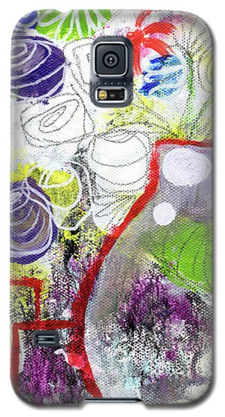 Sunday Market Flowers 3- Art By Linda Woods Galaxy S5 Case by Linda Woods