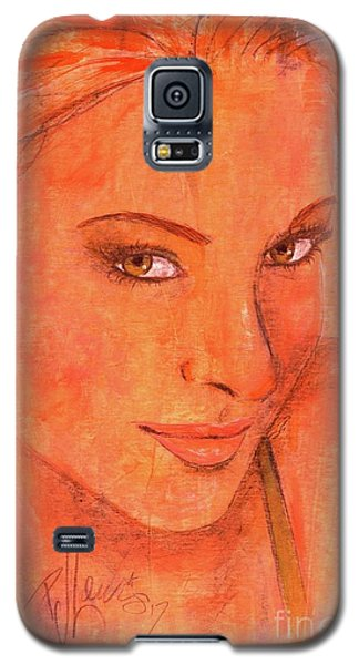 Galaxy S5 Case featuring the painting Sunday by P J Lewis