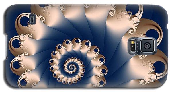 Galaxy S5 Case featuring the digital art Sunday Spiral by Karin Kuhlmann