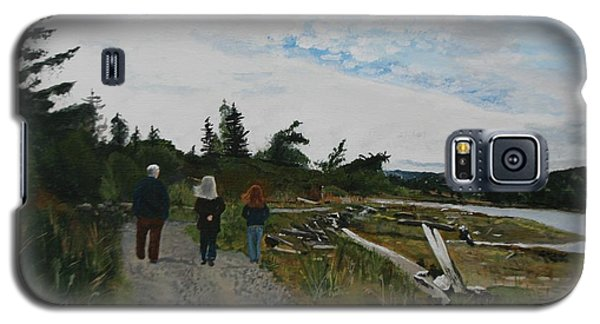 Galaxy S5 Case featuring the painting Sunday Stroll by Betty-Anne McDonald