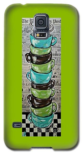 Sundays Cup A Joe Dark Roast Galaxy S5 Case by Jackie Carpenter
