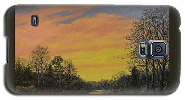 Galaxy S5 Case featuring the painting Sundown Glow by Kathleen McDermott