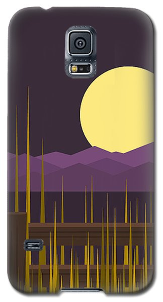 Galaxy S5 Case featuring the digital art Sundown - Vertical by Val Arie