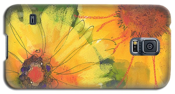 Big Sunflowers Watercolor And Pastel Painting Sf018 By Kmcelwaine Galaxy S5 Case