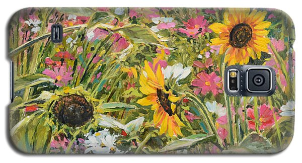 Sunflower And Cosmos Galaxy S5 Case by Steve Spencer