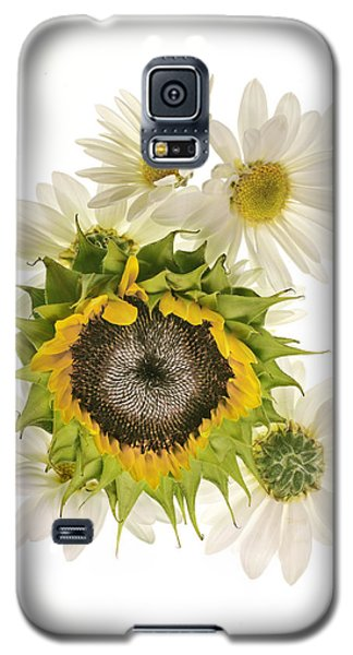 Galaxy S5 Case featuring the photograph Sunflower And Daisies by Roman Kurywczak