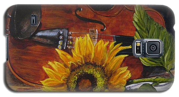 Sunflower And Violin Galaxy S5 Case