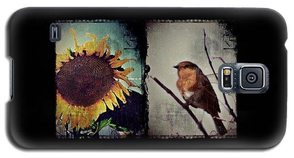 Sunflower Bird Diptych Galaxy S5 Case