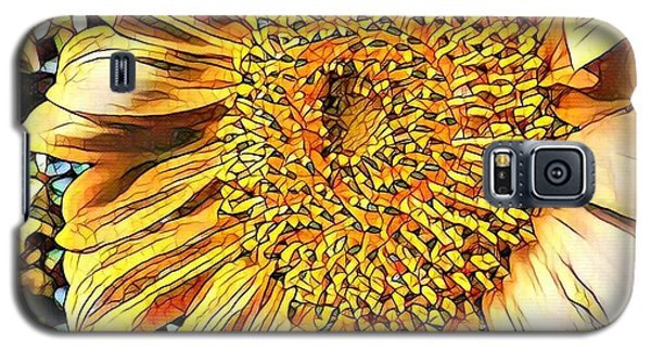 Galaxy S5 Case featuring the photograph Sunflower In The Alley by Diane Miller