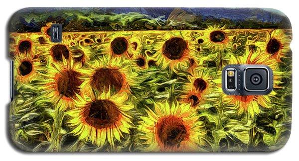 Sunflower Field Van Gogh Galaxy S5 Case
