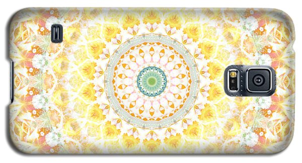 Sunflower Mandala- Abstract Art By Linda Woods Galaxy S5 Case