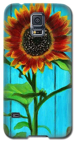 Sunflower On Blue Galaxy S5 Case