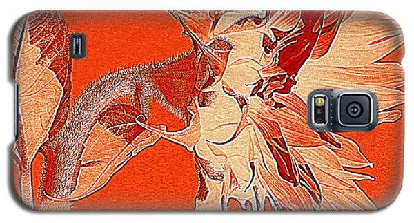 Sunflower - Orange Deco Burst Galaxy S5 Case