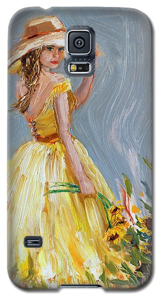 Galaxy S5 Case featuring the painting Sunflower Seduction by Jennifer Beaudet