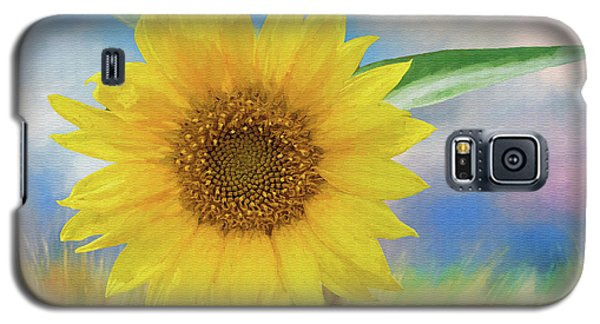 Galaxy S5 Case featuring the photograph Sunflower Surprise by Bonnie Barry