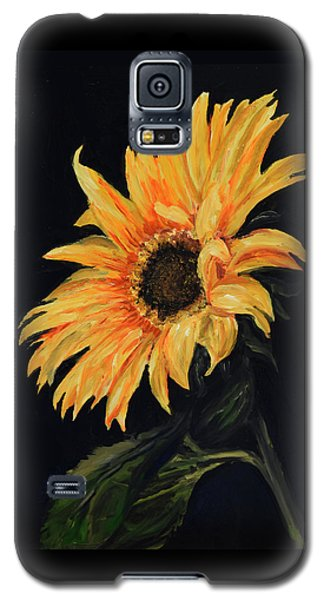 Galaxy S5 Case featuring the painting Sunflower Vii by Sandra Nardone