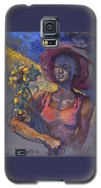 Sunflower Woman Galaxy S5 Case