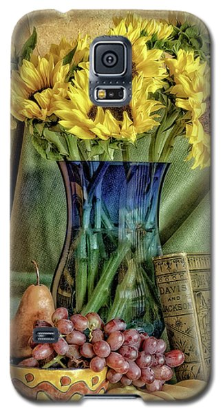 Sunflowers And Blue Vase Galaxy S5 Case