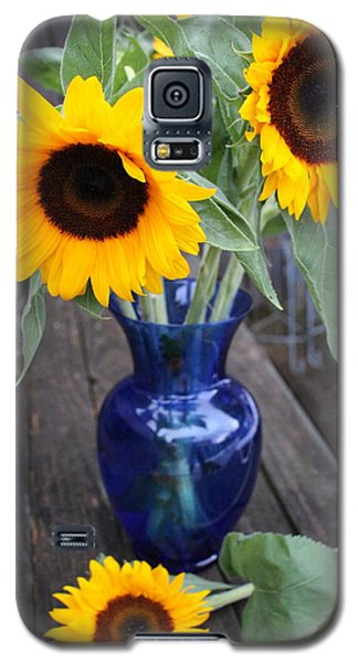 Sunflowers And Blue Vase - Still Life Galaxy S5 Case