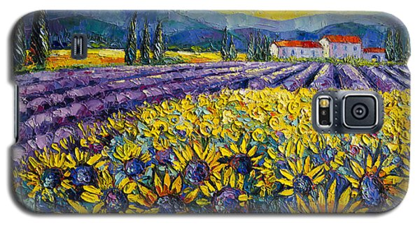 Sunflowers And Lavender Field - The Colors Of Provence Galaxy S5 Case