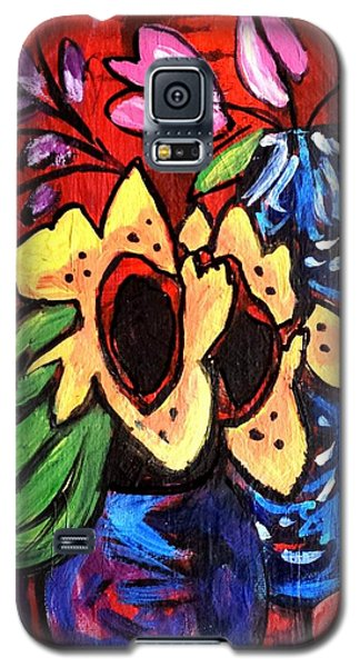 Sunflowers And Tulips Galaxy S5 Case